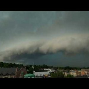 Thunderstorm and Shelf Cloud Time-Lapse - St Charles, Illinois on 6-26-2020