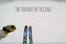 The sounds of skiing